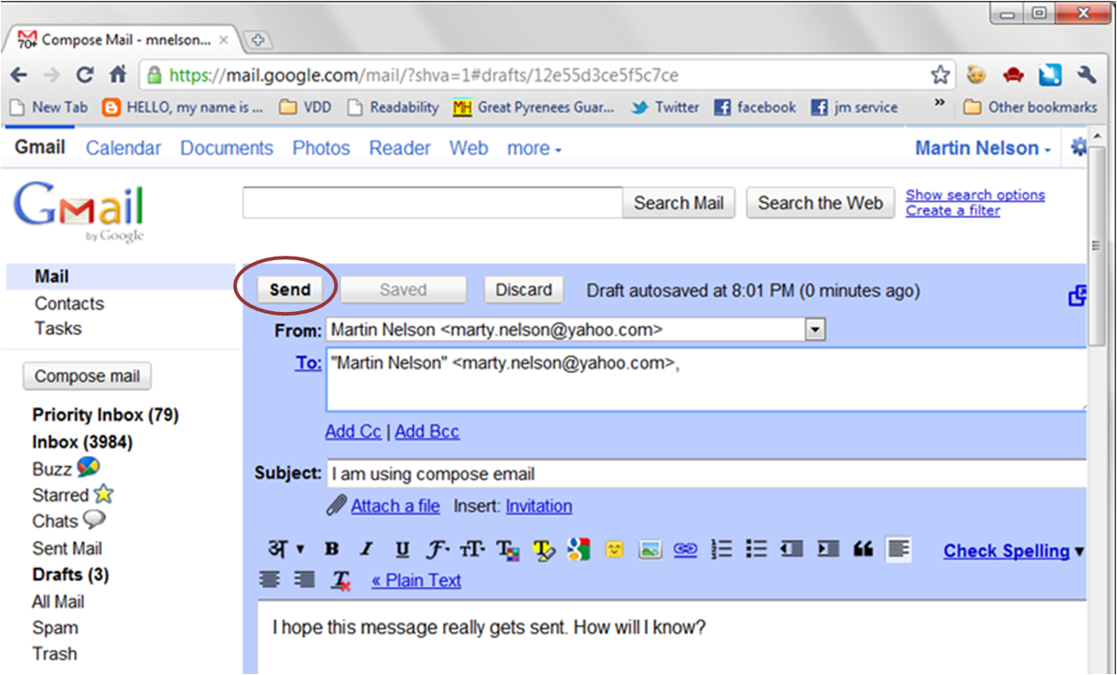 how to delete a mail sent on gmail